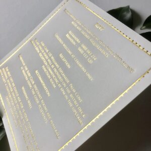 Foiled Square Design Wedding Info Card